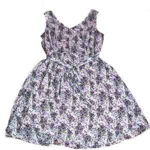 Madison Leigh Pink & Purple Floral A-Line Dress 12